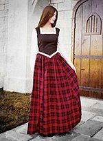Dress with Plaid Skirt