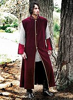 Sleeveless Wine Red Coat