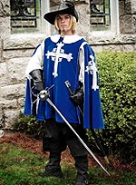 Blue Tabard with Cross