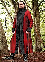 Mens Coat Black & Red