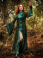Green Robe with Gothic Sleeves