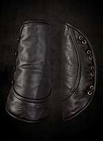 Brown Leather Bracers