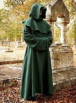 Monk Robe & Cowl Green