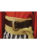 Leather Belt with Large Brass Buckle