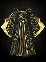 Black Renaissance Dress with Gold