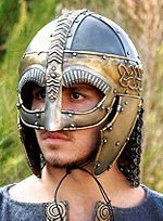 Viking Helmet with Nose Guard and Cheek Pieces