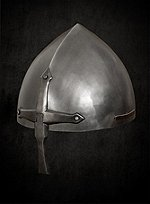 Nasal Helmet with Hinged Nose Guard