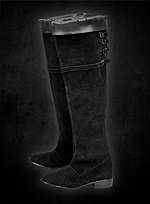 Henry VIII Black Suede Boots The Tudors