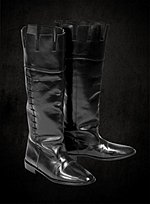 Henry VIII Black Leather Boots The Tudors