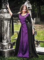 Gothic Dress Black & Purple