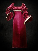 Satin Dress Wine Red