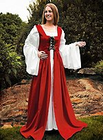 Red Kirtle with Black Lacing