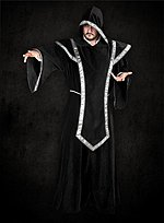 Black Robe with Hood and Tabard