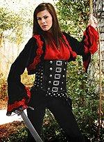 Rot-schwarzer Samtbolero