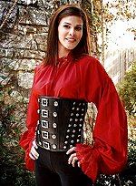 Leather Waist Cincher with Studs