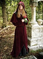 Wine Red Velveteen Robe