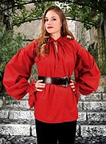 Red Blouse with Full Sleeves