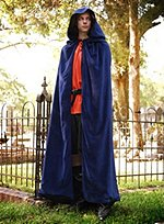 Dark Blue Cape with Hood