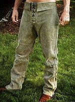 Grüne Wildlederhose