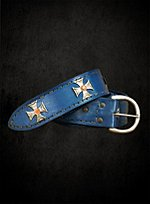 Blue Belt with Maltese Cross