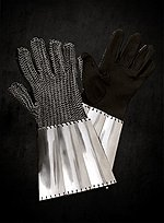 Mail Gauntlets with Steel Plates