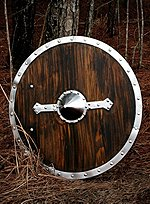 Viking Shield with Steel Rim