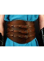 Wide Leather Gladiator Belt