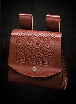 Celtic Belt Pouch Brown