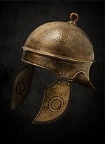 Roman Helmet Hammered Brass