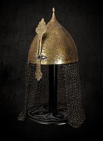 Saladin Helmet with Mail Neck Guard
