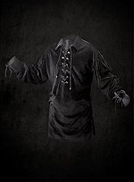 Lace Up Shirt Black Velveteen