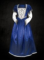 Blue Renaissance Dress with Juliet Sleeves
