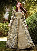 Renaissance Dress in Floral Damask
