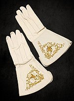 Dress Uniform Gloves White Leather