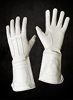 White Leather Gauntlets