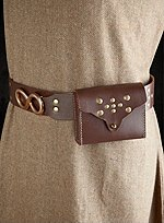 Brown Leather Belt with Purse