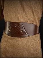 Brown Belt with Celtic Knot Pattern
