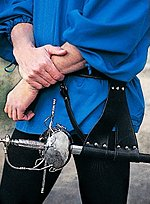 Leather Belt with Rapier Frog