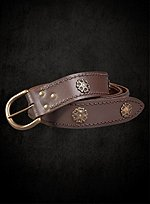 Brown Long Belt with Brass Plates