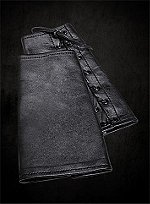 Black Glove Leather Bracers