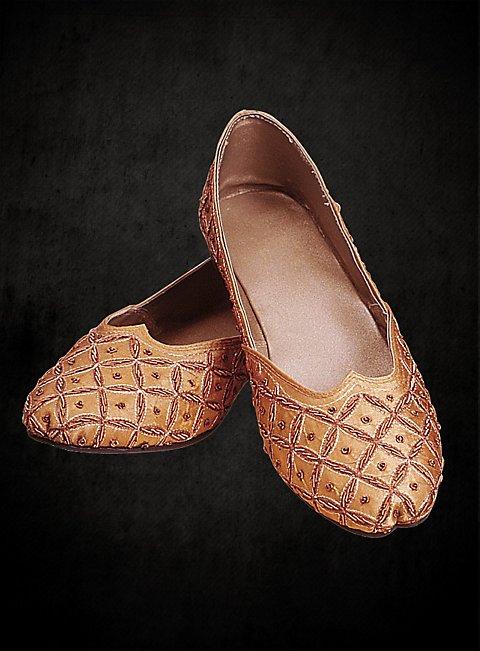 golden beaded slippers. Black Bedroom Furniture Sets. Home Design Ideas