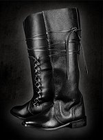 Knee High Leather Boots with Inner Lacing