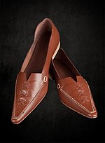 Brown Poulaines with Heel
