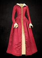 Late Renaissance Court Dress Red