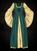 Green Kirtle with Removable Sleeves