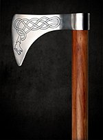 Battle Axe with Celtic Knot Pattern