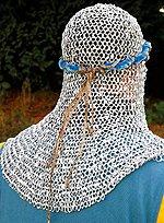 Blaues Helmband