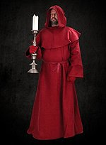 Wine Red Robe with Cowl