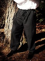 Mens Drawstring Trousers Black