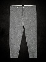 Gray Wool Trousers Confederate Army